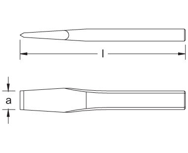 Ex304 Non-Sparking, Non-Magnetic Hand Chisel