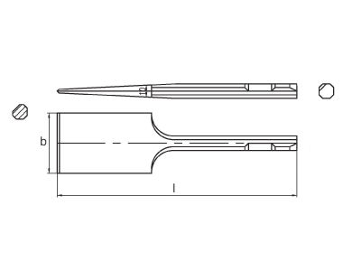 Ex312 Non-Sparking, Non-Magnetic Scaling Chisel Dimensional Drawing