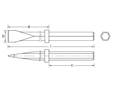 Ex318F Cincel demoledor de pavimento dibujo dimensional