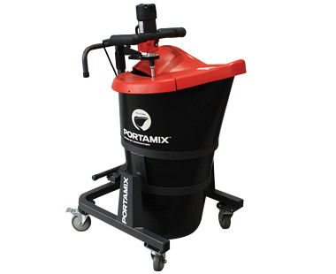 PMP80DC-23 Portable Mixing Station with Dust Collection Side View