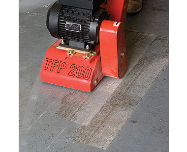 TFP 200 Floor Scarifier - Removing Paint