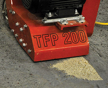 TFP 200 Floor Scarifier - Coating Removal