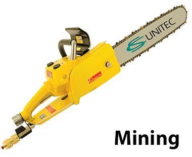 Sierra de cadena neumática de minería subterránea y de carbón