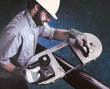 Sierra de cinta portátil eléctrica Deep Throat ™ Modelo 5 6047 0010 cortes de tubería