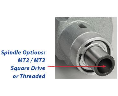 Opciones de eje: MT2 / MT3, accionamiento cuadrado o roscado