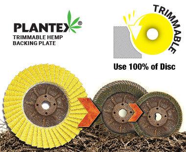 Disco cerámico PLANTEX SUNFIRE: uso hasta la última solapa.