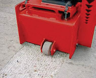 "TFP 260 10"" Floor Scarifier application detail"