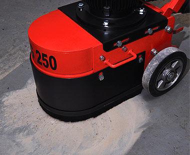 "10"" Heavy-Duty Wet/Dry Floor Grinder Preparing Floor for Resurfacing"