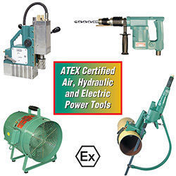 ATEX Certified Air, Hydraulic and Electric Power Tools