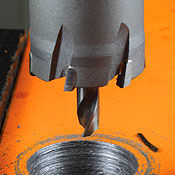 Carbide tipped hole saw for metalworking