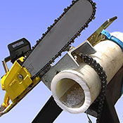 Pneumatic chain saw for petrochemical applications