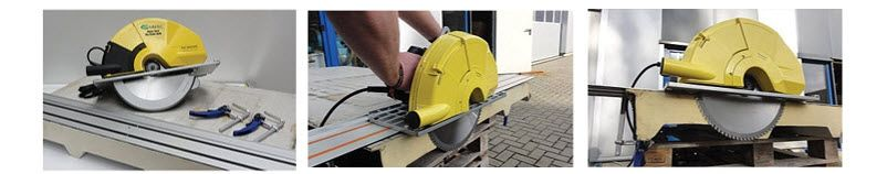 guide rail with clamping system