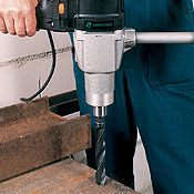 Drills and drive units for metalworking