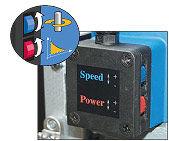 Alta potencia a bajas velocidades. Control de torque electrónico que evita daños en el motor