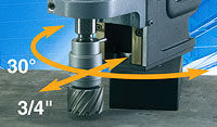 """Mag drill swivel base 30 degrees by 3/4"""""""