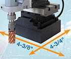 portable magnetic drill with multi-axis positioning