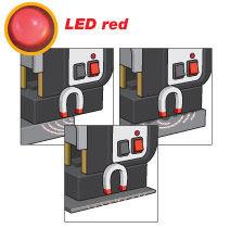 LED rojo... fuerza magnética insuficiente