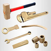 Non-sparking brass safety hand tools