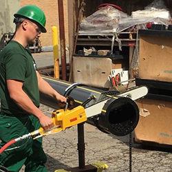 Plastic Chainsaw Cutting HDPE