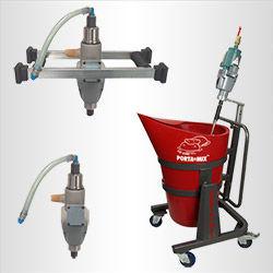 Air-powered mixers
