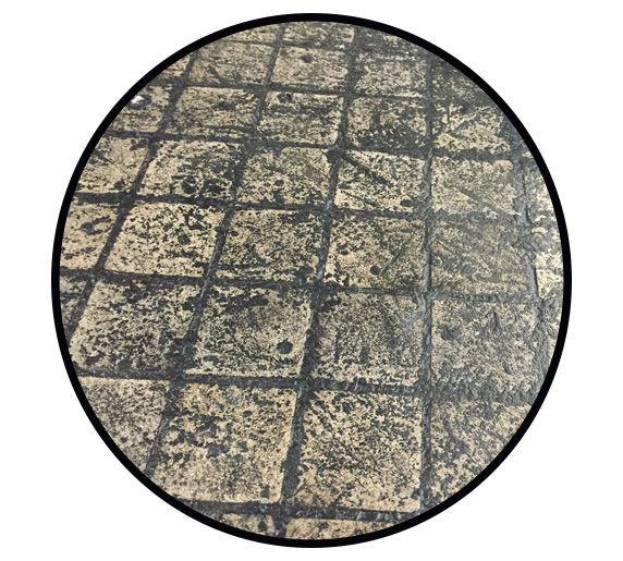 tire rubber covered tile floor - trelawny light case study