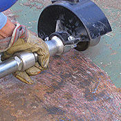 Deck Descaler for metalworking