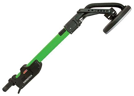 Long-reach drywall sander for hard-to-reach walls and ceilings