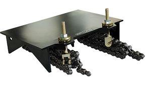 """Abrazadera opcional admite perforaciones en ángulo recto de tuberías de plástico, acero, hierro fundido y cemento de hasta 19 1/2"""" de diámetro"""