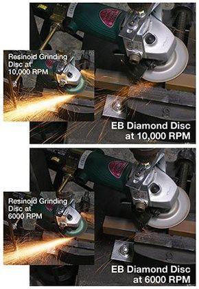 Discos de amolado de diamante con chispas reducidas