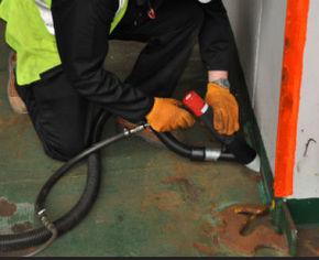 Vacuum Shrouded Needle Scaler Lead Paint Removal Edge