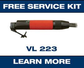 VL223 heavy-duty low-vibration needle scaler promo