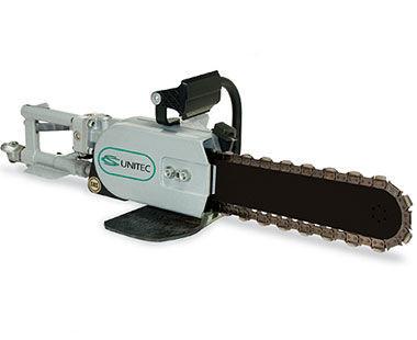 Air concrete chain saw