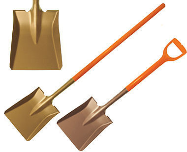 Ex1005 Non-Sparking, Non-Magnetic Square Point Shovel with Nupla Handle