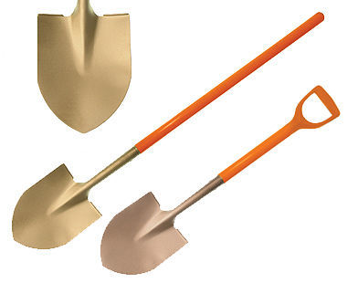 Ex1006 Non-Sparking, Non-Magnetic Round Point Shovel with Nupla Handle