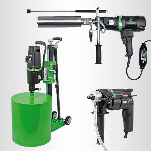 Electric Wet Diamond Core Drilling Machines - Hand-Held and Rig Mounted