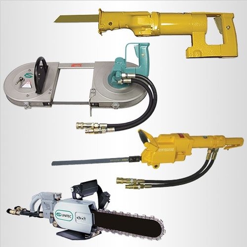 Specialty hydraulic saws - chain saws, reciprocating saws, band saws and more