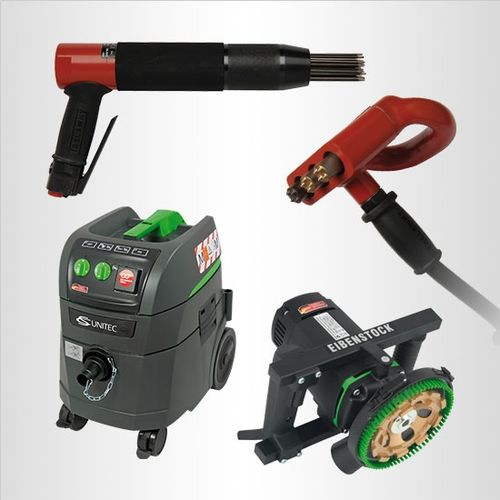 specialty power tools for coatings removal, including dust extraction