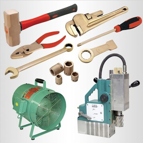 Specialty hand and power tools for ex zones and hazardous areas