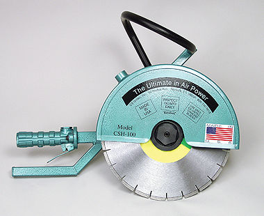 Hand-held concrete cut-off saw