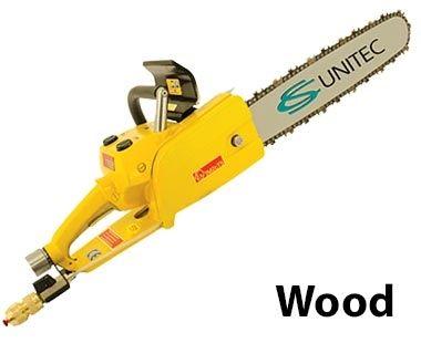 Sierra de cadena neumática de madera