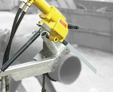 Self-feeding Pipe Clamp for Electric & Hydraulic Saws