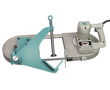 Abrazadera de tornillo para sierra de banda para corte recto