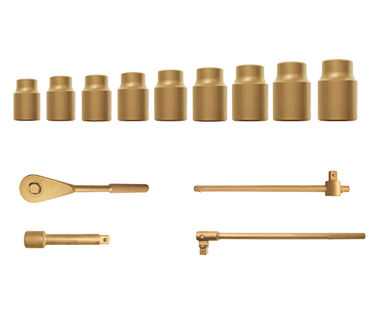 "Ex1520-Met Kit 15-Piece Metric Kit - Regular Sockets, 6-Point, 1/4"" Drive"